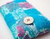 Felt Case iPhone, Smartphone Cover Patchwork