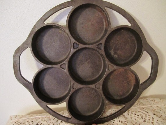 Vintage Cast Iron Muffin Pan Lodge Brand