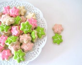 OH SO SMALL Initial Flower cookes - 6 dozen