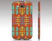 Samsung Galaxy S3 Case, aztec tribal, retro colorful red yellow turquoise, art for your phone