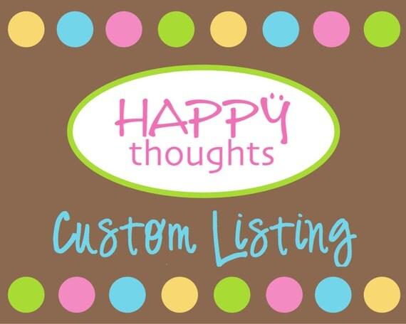 Custom Listing for Ashli