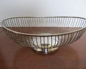 SALE, SALE, SALE! Vintage Silverplated Wire Basket--Lg. Oval Basket