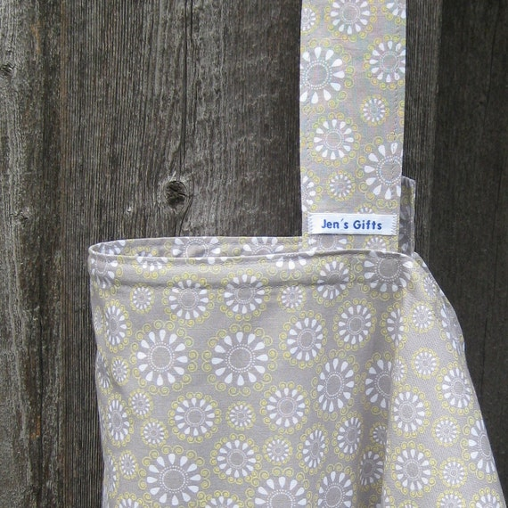 Nursing Cover Up- Grey and Yellow Flowers