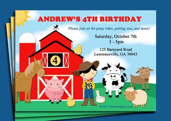 Farm Birthday Party Invitations for perfect invitation sample