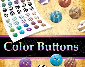 INSTANT DOWNLOAD - Buttons 01 PNG Digital Images Transparent Backgrounds Cliparts Scrap kit Tags Card aceo atc Sticker pyo diy