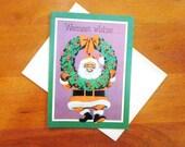 Vintage Unused Greeting Card - African American Christmas - Christmas Greeting Card - Black Santa - Black Americana