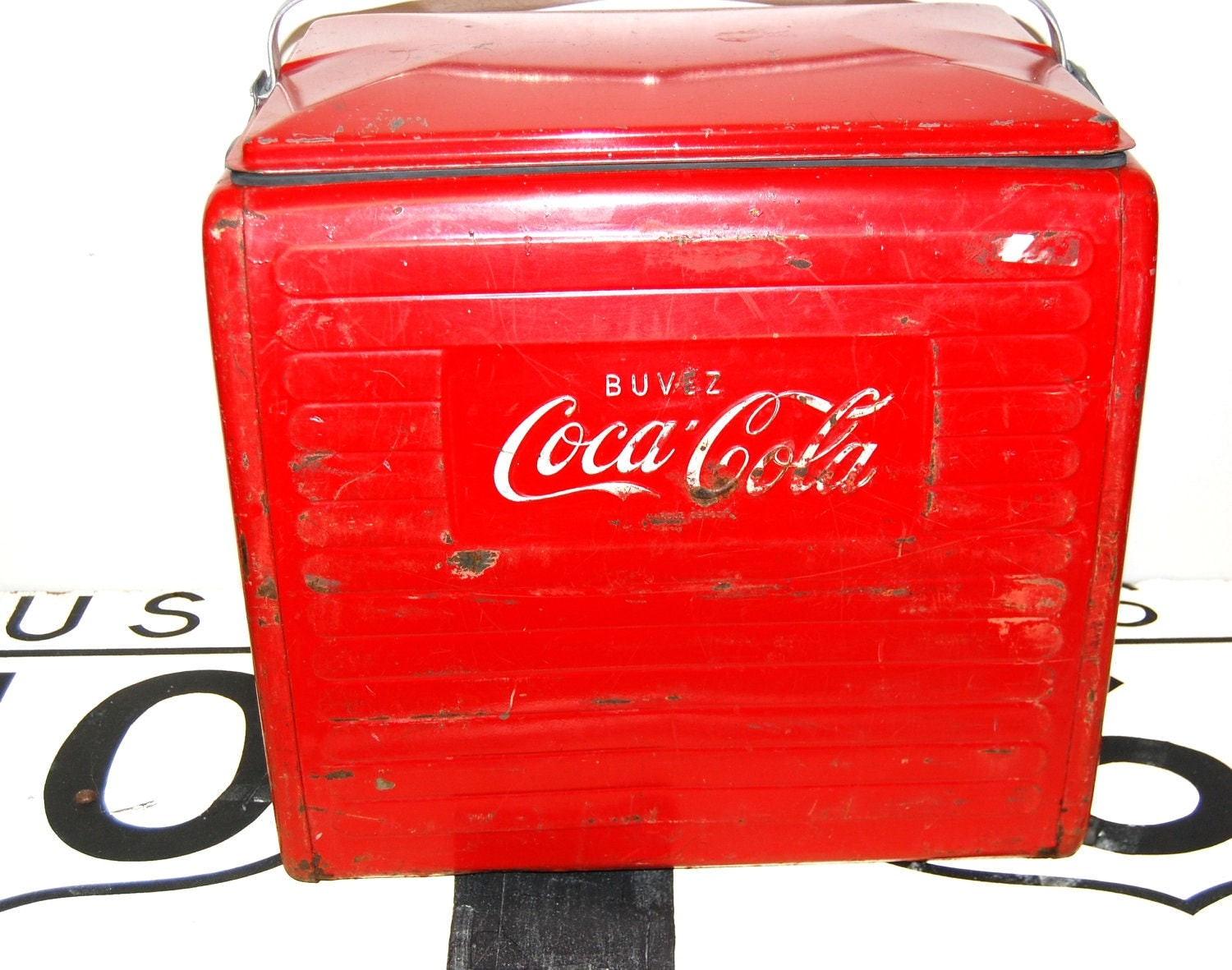 vintage coca cola cooler red cooler canada ice chest  Old Coca Cola Coolers