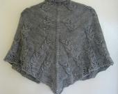 Shawl Knitting Pattern PDF, Owls, Lacy Border, Owl Cables, Triangular Shawl, Ellian - A Shawl Full of Owls