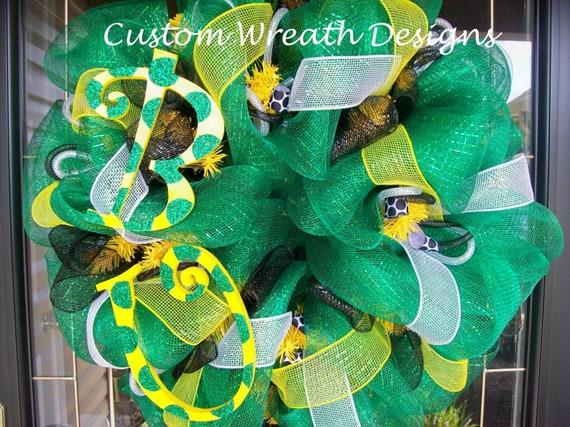 Deco Mesh Baylor University Wreath