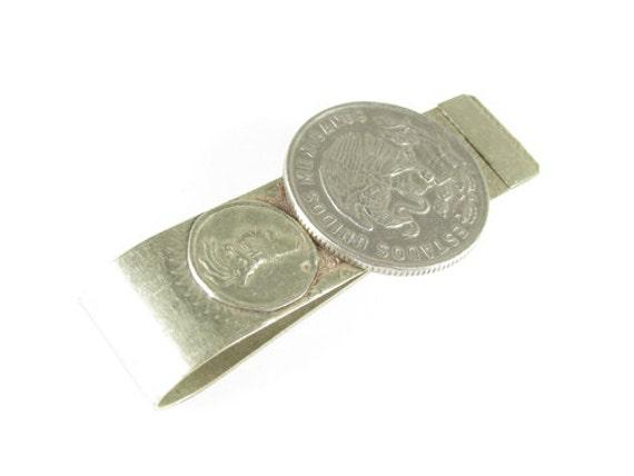Vintage Money Clip Aztec Warrior, Eagle and Snake, Mexico - Clip de Aztec Vintage by My Chouchou.