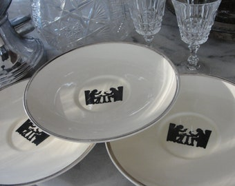 Silhouette Pattern china - set of 3 -Taylor Smith  T (TST)