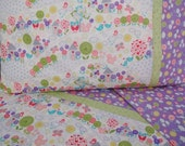 Toddler girl bedding Rainy Day and Flowers print crib sheet set 3 pc nursery bedding girl nursery infant bedding