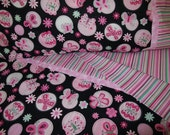 Toddler girl bedding black and pink butteflies print crib sheet set 3 pc nursery bedding girl nursery infant bedding