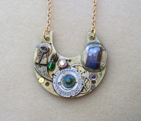 """Doctor Who Pocket Watch necklace """"Flesh and Stone"""""""