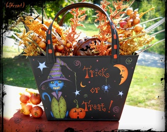 E PATTERN - Trick or Treat - Fun, Primitive  and Colorful for Fall - Painted & Designed by Sharon B. - FAAP