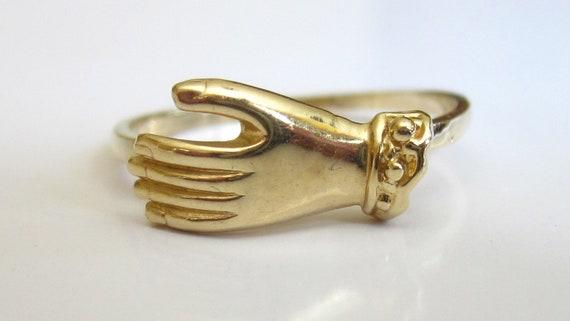 SALE- Antique Victorian/Edwardian Hand 14K Ring