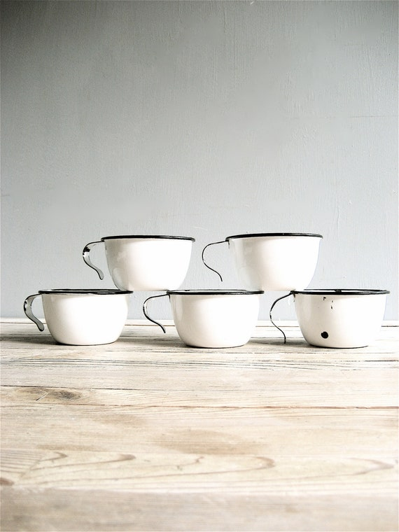Vintage  Enamel Mugs