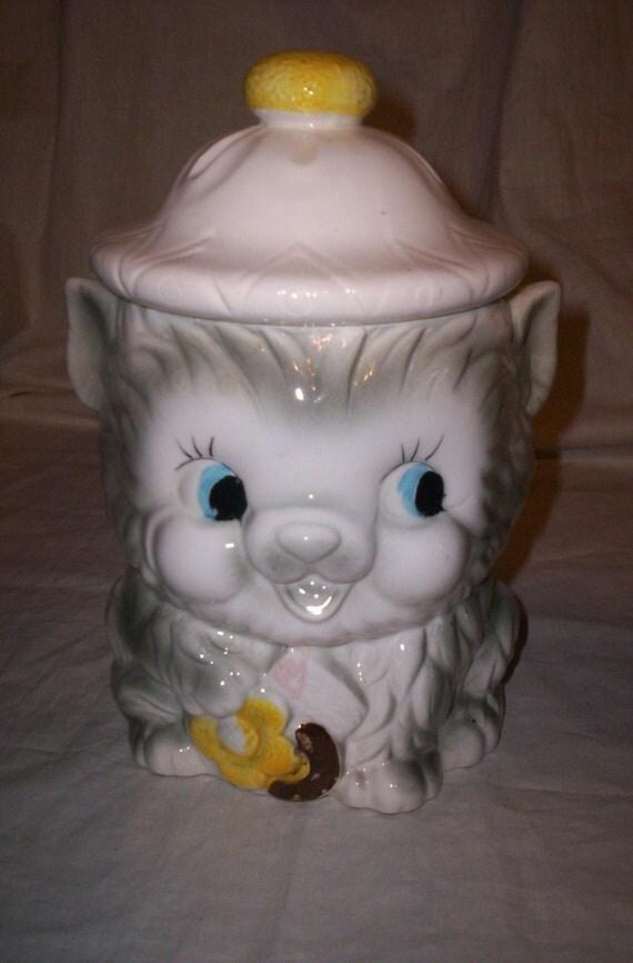vintage made in USA cat kitten cookie jar