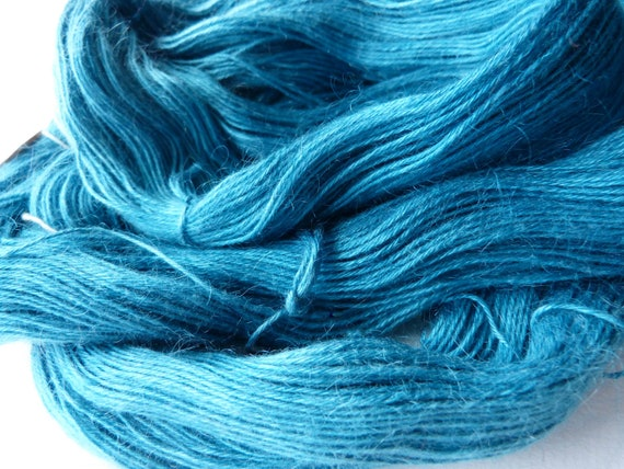 Hand Dyed Sock 4 ply Fingering Kid Mohair SIlk Yarn