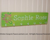 Personalized Swimming Ribbon and Medal Display Hanger -  Customization Available