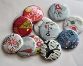 25 Santa Baby Flat Back Buttons