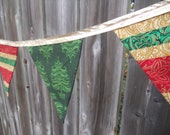 Christmas/Winter/Holiday - Fabric Banner / Pennant / Bunting