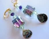 Abalone Crystal dangle Earrings  E279