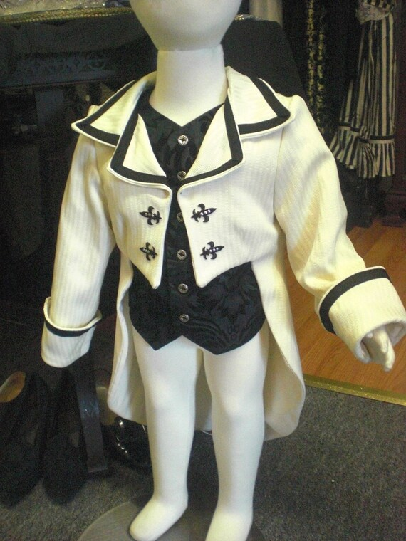 The Little Gentleman Victorian Tailcoat and Vest  - Toddler size 2T