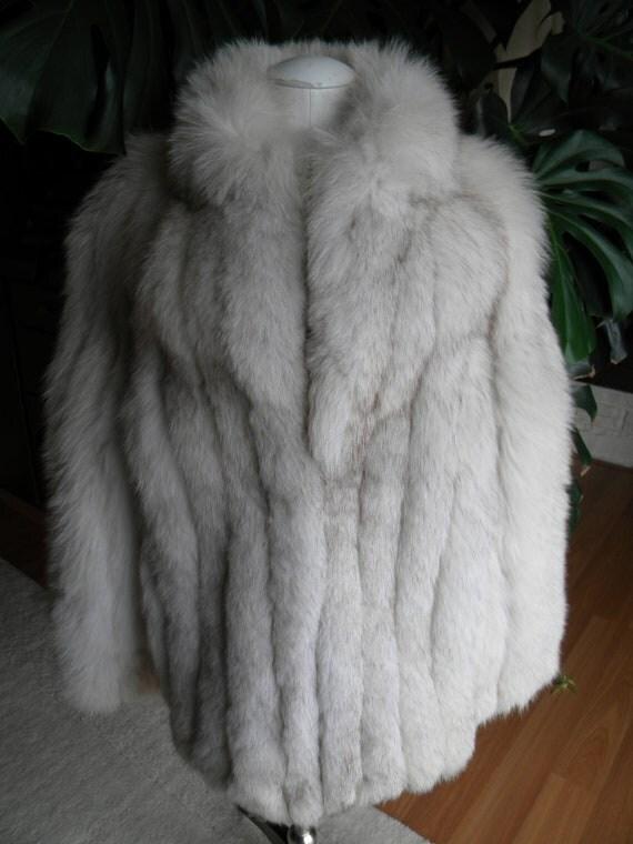 Fabulous cream blue fox fur coat/jacket
