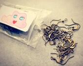 100 Brass Earring Hooks