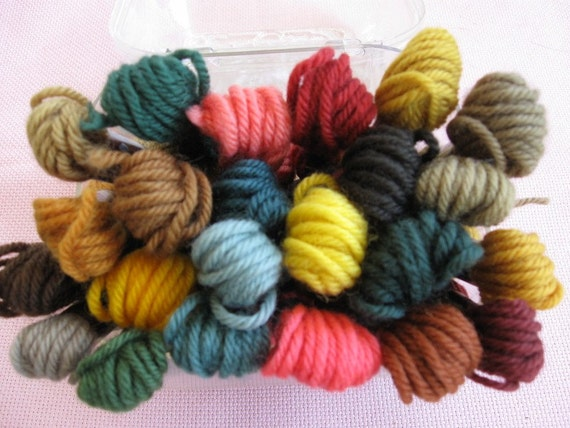 DMC Tapestry Yarn, 23 skeins all wool, 8.7 yards each skein, imported from France.
