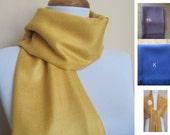 Gold yellow Pashmina Scarf, Shawl, Wrap, bridal shawl, bridesmaids shawl, bridal gift