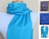 Turquoise Pashmina Scarf, Shawl, Wrap, bridal shawl, bridesmaids shawl,