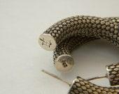 John Hardy Earrings 925 Silver - Hand Woven - Bali Silver