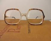 vintage Metzler tortoise shell eyeglass frames -  glasses, 1980s, made in Germany