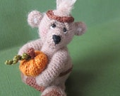 FREE SHIPPING Miniature Thanksgiving Thread Artist Bear