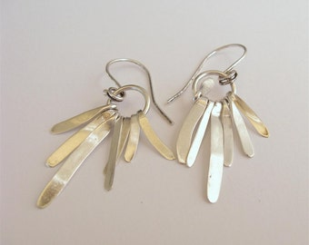 Fine Jewelry. Fall Harvest Sterling Silver Organic Earrings. Handmade Jewelry Ready to Ship