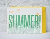 SUMMER - letterpress greeting card
