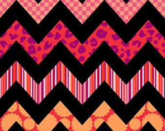 Quilting Treasures - Chevron Chic in Fuchsia - By The Yard
