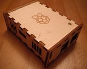 BRAMBLE Pi - Raspberry Pi (model B) laser cut finger jointed wooden case