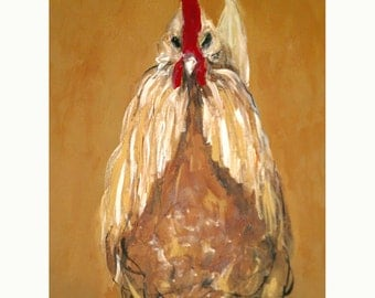 Rooster Art Print, Kitchen Poster, Unique Wall Art