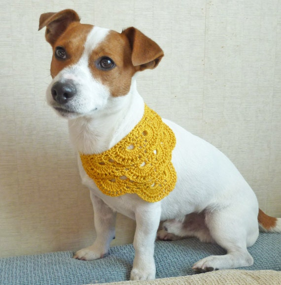 Yellow Dog Bandana Crochet Dog Bandana Dog Bandana Summer