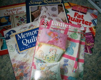 Quilt Books - Your Choice -Ladies of Leisure, Memory Quilts, Quick and Easy Scrap Quilting, Fat Quarter Quilts and Applique Made Easy