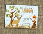 PRINTABLE INVITATIONS Hunting Birthday Invitation - Deer Hunter Custom Printable - Memorable Moments Studio