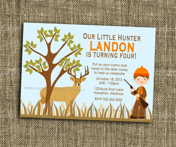 Camo Girl Hunting 3 Birthday Party PRINTABLE by ...   Hunting Party Printables