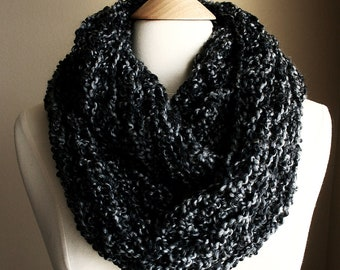 Sale -  BEACHCOMBER INFINITY SCARF Warm, soft & stylish scarf rich in texture - Charcoal