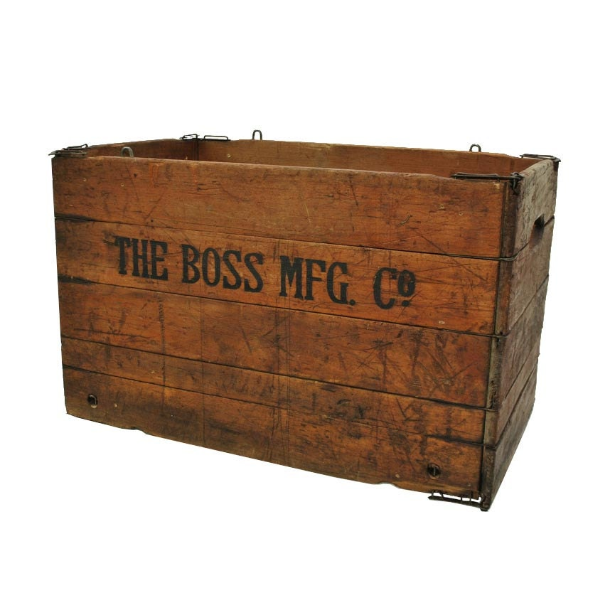 Rustic wooden crate wooden box folding crate vintage for Where to buy old crates