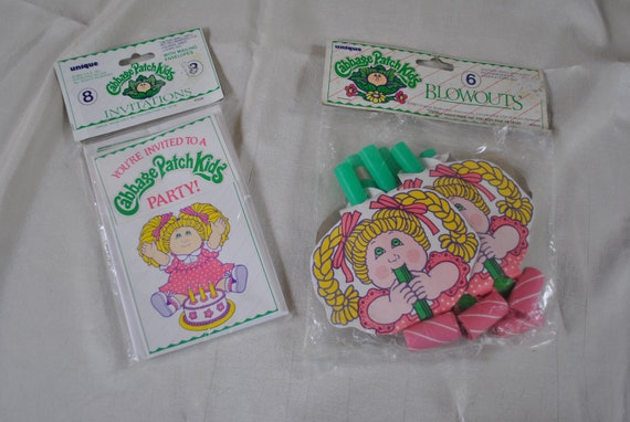 vintage 1980s cabbage patch kids birthday party supplies