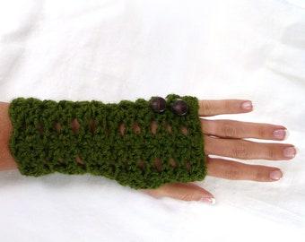 Wrist Warmers Fingerless Gloves Fresh Green