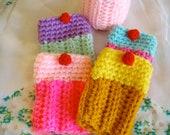 Crochet Cupcake Coffee, Tea or Adult Beverage Cozy PATTERN PDF